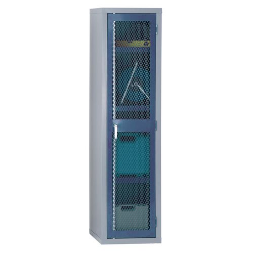 1830x459x459 Mesh Door Cabinet 3 Shelves Blue Doors