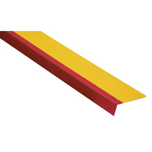 S/S Tread 600x180 +55 Nose. Yellow With Red Hle