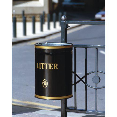 Knight Open Top Post Mounted Litter Bin