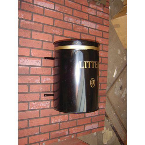 Knight Open Top Wall Mounted Litter Bin
