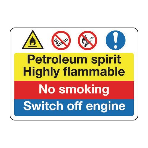 Sign Petroleum Spirit No Smoking 400x300 Vinyl