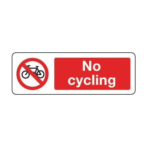 Sign No Cycling 600x200 Vinyl