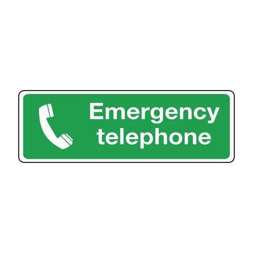 Sign Emergency Telephone 300x100 Vinyl