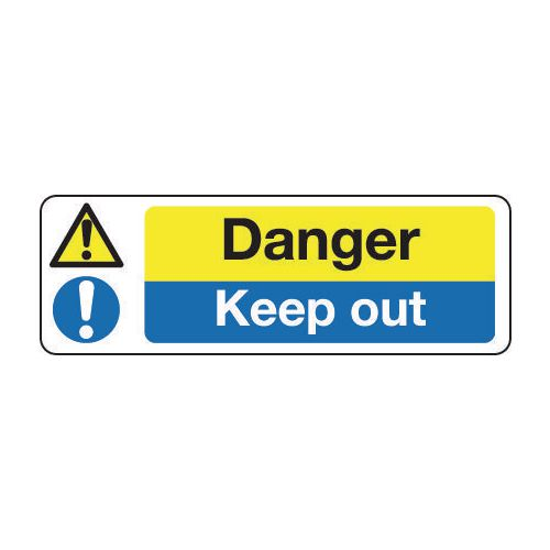 Sign Danger Keep Out 600x200 Vinyl