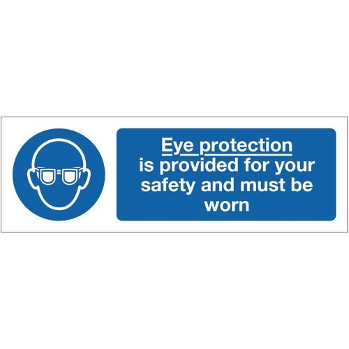 Sign Eye Protection Is Provided 300x100 Vinyl