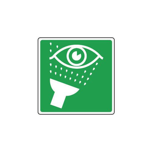 Sign Eye Wash Pictorial 100x100 Vinyl
