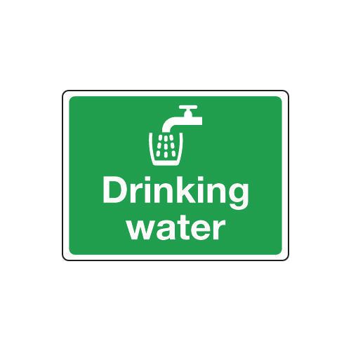 Sign Drinking Water 100x75 Vinyl