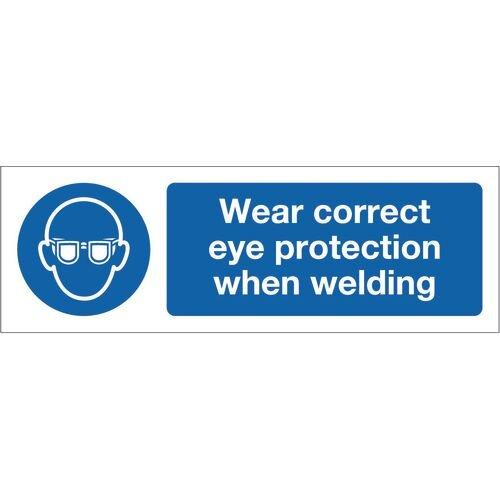 Sign Wear Correct Eye Protection 600x200 Vinyl