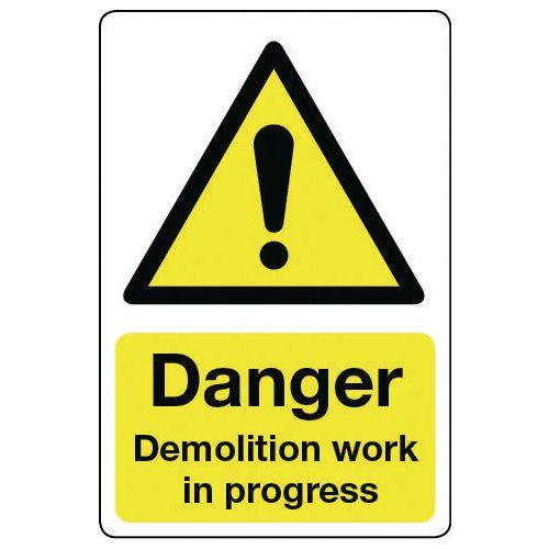 Sign Danger Demolition Work 400x600 Vinyl