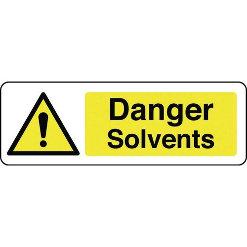 Sign Danger Solvents 300x100 Vinyl