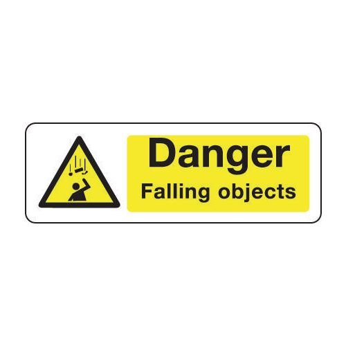 Sign Danger Falling Objects 600x200 Vinyl