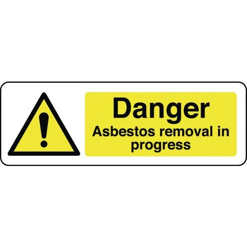 Sign Danger Asbestos 400X600 Vinyl Danger Asbestos Removal In Progres