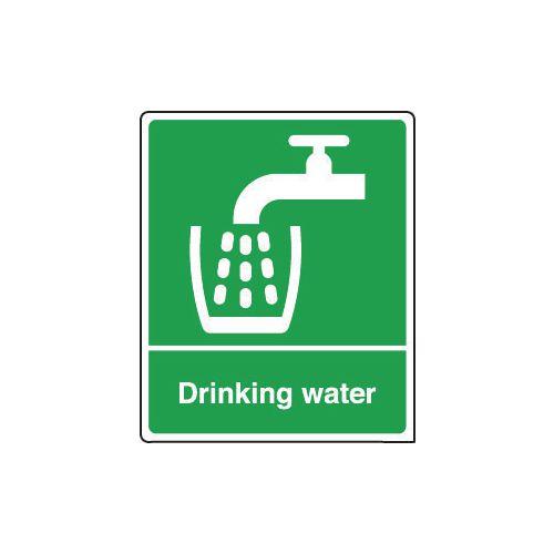 Sign Drinking Water 150x200 Vinyl