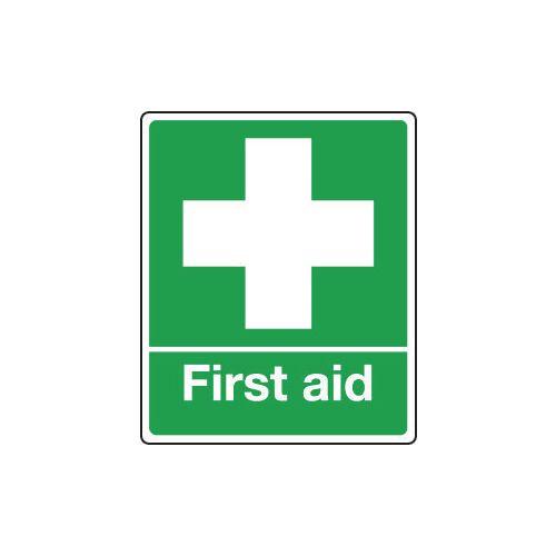 Sign First Aid 75x100 Vinyl Self-Adhesive Vinyl 75x100 mm