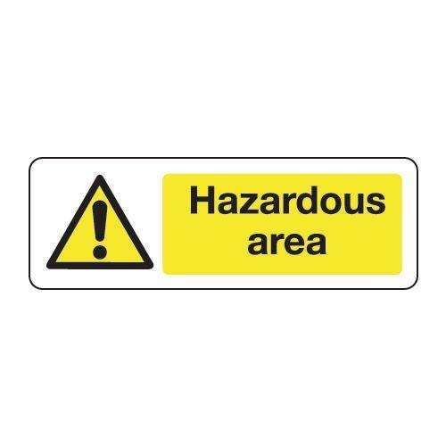 Sign Hazardous Area 300x100 Vinyl
