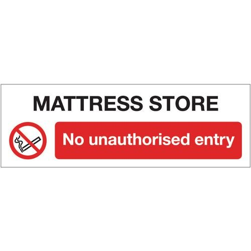 Sign Mattress Store No 300x100 Vinyl