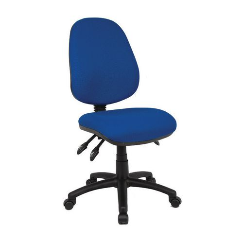 Vantage Without Arms High Back Operators Chair No Arms Blue