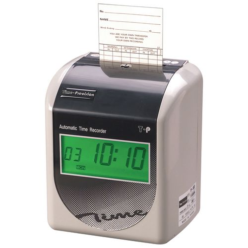 T-P 100 D Automatic Time Recorder with 250 Cards &25 Slot Rack