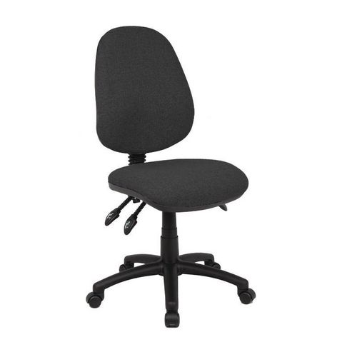 Vantage Without Arms High Back Operators Chair No Arms Charcoal