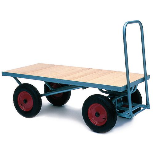 Large Four Wheeler Flat Turntable Truck Pneumatic Tires L1600mm