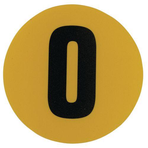 Warehouse Floor Id Marker 190mm Diameter  Number 0