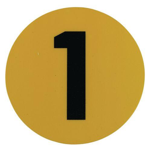 Warehouse Floor Id Marker 190mm Diameter  Number 1