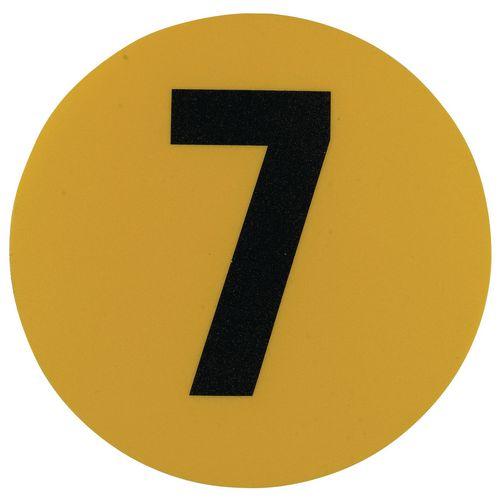Warehouse Floor Id Marker 190mm Diameter  Number 7
