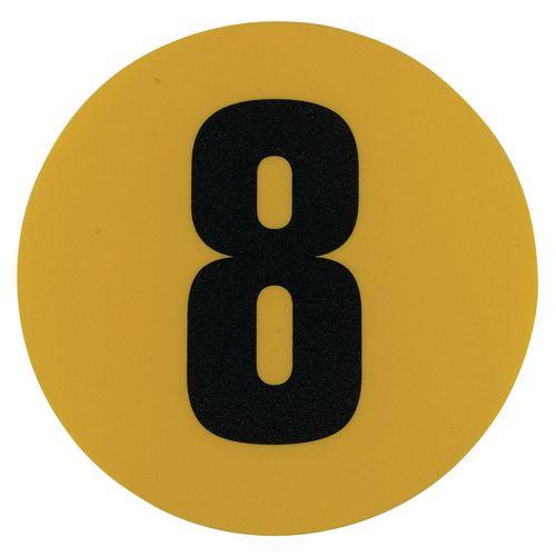 Warehouse Floor Id Marker 190mm Diameter  Number 8