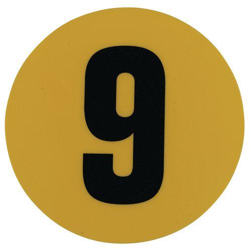 Warehouse Floor Id Marker 190mm Diameter  Number 9