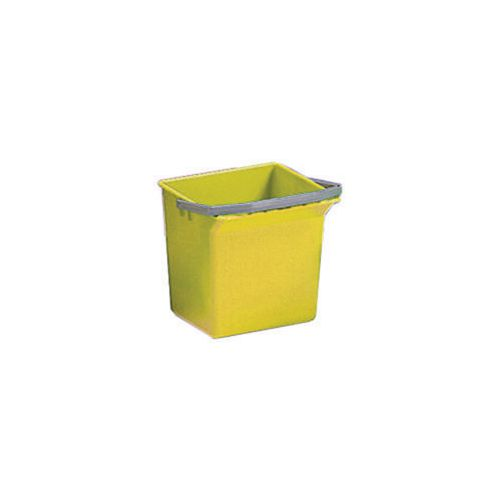 Yellow Plastic Cleaning Trolley Bucket 4L