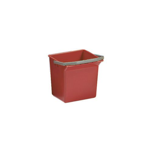 Red Plastic Cleaning Trolley Bucket 4L