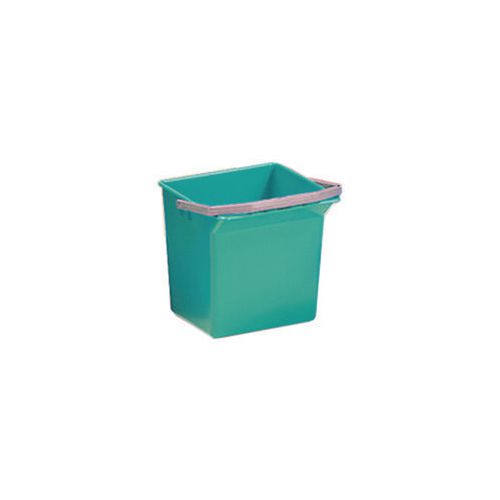 Green Plastic Cleaning Trolley Bucket 4L