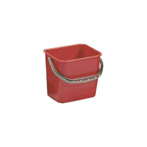 Red Plastic Cleaning Trolley Bucket 6L