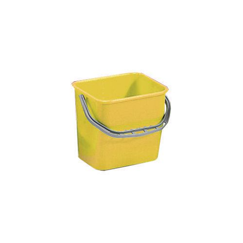 Yellow Plastic Cleaning Trolley Bucket 6L