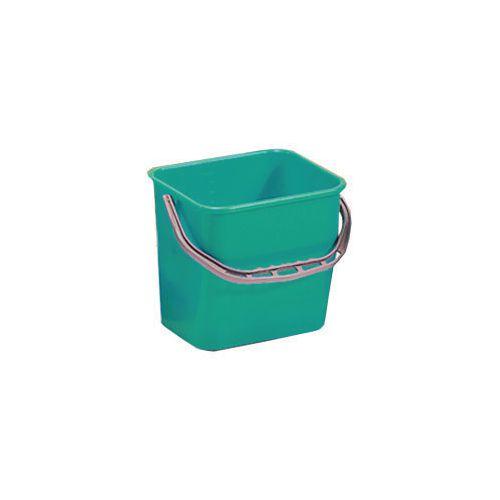 Green Plastic Cleaning Trolley Bucket 6L