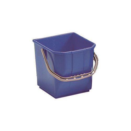 Blue Plastic Cleaning Trolley Bucket 25L