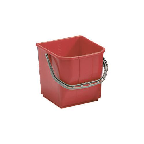 Red Plastic Cleaning Trolley Bucket 25L