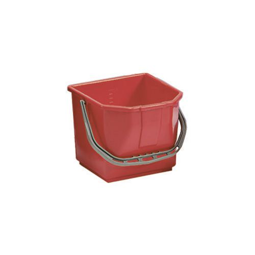 Red Plastic Cleaning Trolley Bucket 15L