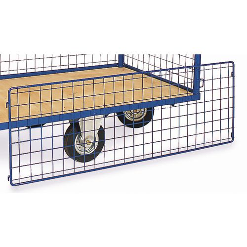Blue Plastic Coated Mesh Sides 1200 Diamond Premier Trucks