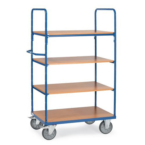 Melamine Shelved Trolley 1100mm High With 3x700mm Deep Shelves
