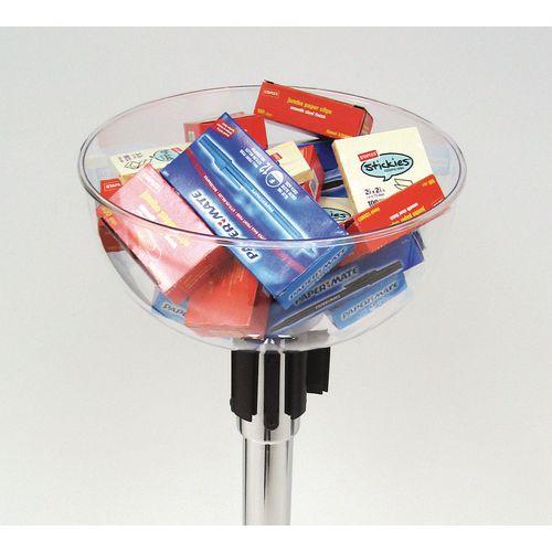 Plastic Post Top Merchandising Bowl
