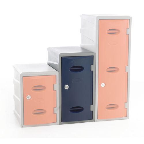 Plastic Locker 600 High Blue Key Lock