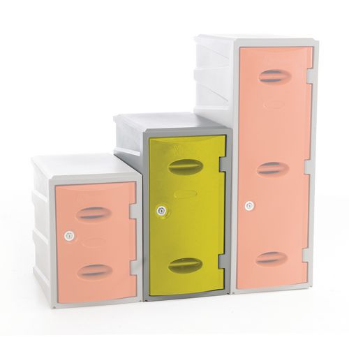 Plastic Locker 600 High Yellow Key Lock