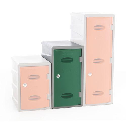 Plastic Locker 600 High Green Key Lock