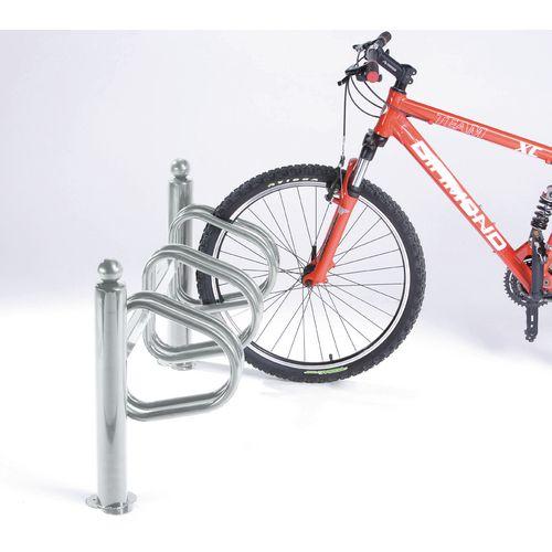 New York Cycle Rack 3 Bikes Galvanised