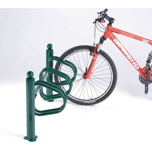 New York Cycle Rack 3 Bikes Green Painted