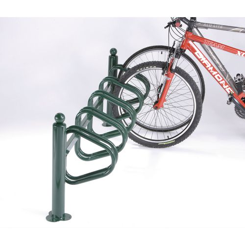 New York Cycle Rack 5 Bikes Green Painted