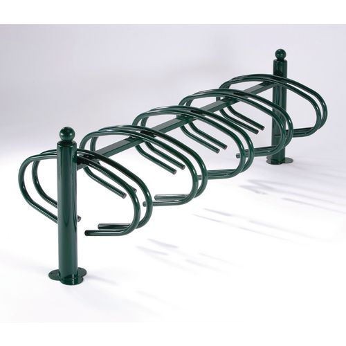 New York Cycle Rack 10 Bikes Green Painted