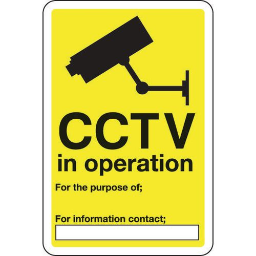 Sign Cctv In Operation 200x300 Vinyl