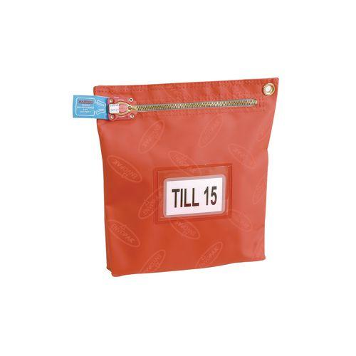 Cash Bag Short Edge Zip W330mm Red